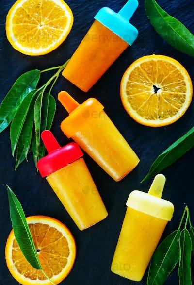 homemade orange icecream