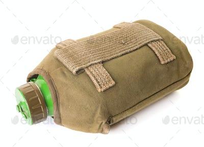 army flask in studio
