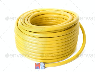 garden hose in studio