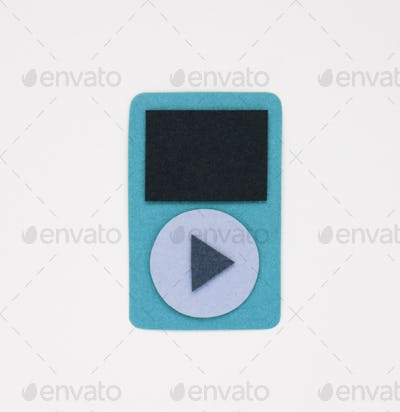 Mp3 player icon hipster graphic