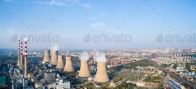 thermal power plant panorama