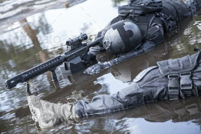 Dead bodies of special forces operators