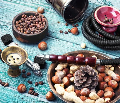 Asian Hookah with a nut taste
