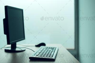 Desktop PC computer in empty office