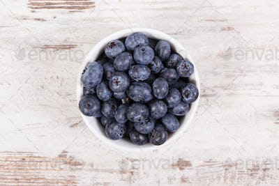 Fresh ripe blueberries containing natural minerals, healthy dessert concept