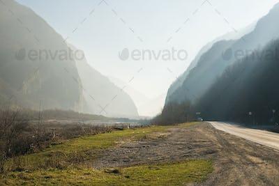 Georgian Military Road between Georgia and Russia, The Caucasus mountains