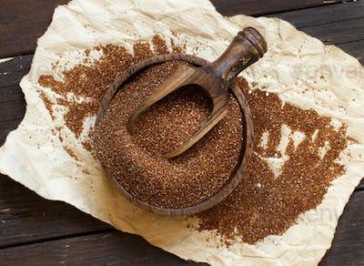 Pile of uncooked  teff grain
