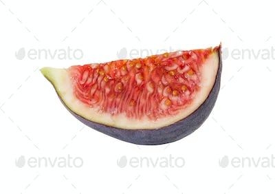 Slice of fresh figs