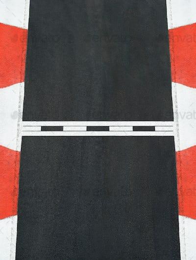 Start and Finish race line asphalt texture grand prix circuit