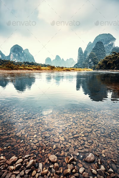 Lijiang River in Xingping, China.