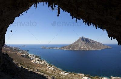 Rock climbing, Kalymnos Island, Greece