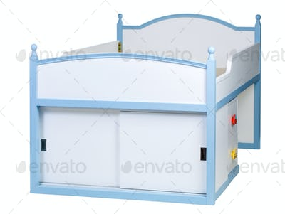 Children bed isolated on white, with clipping path