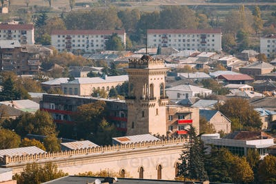 Gori, Shida Kartli Region, Georgia, Eurasia. Top View Of Tower T