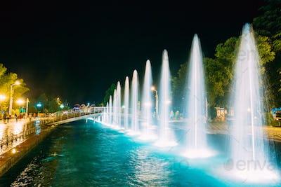 Batumi, Adjara, Georgia. Singing And Dancing Fountains Is Local
