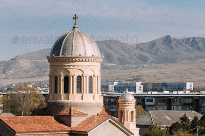 Gori, Shida Kartli Region, Georgia, Eurasia. Dome Of Cathedral O