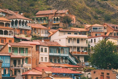 Tbilisi, Georgia. Residential District Of Old Town
