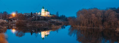 Gomel, Belarus. Panorama Of Church Of St Nicholas The Wonderwork