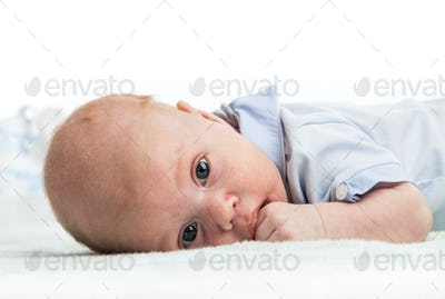 Closeup portrait of baby boy