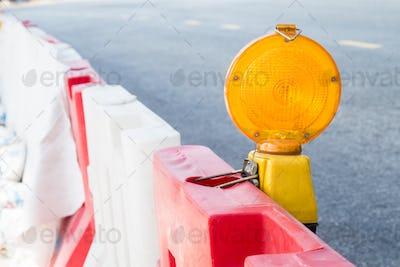 Construction site hazard warning light