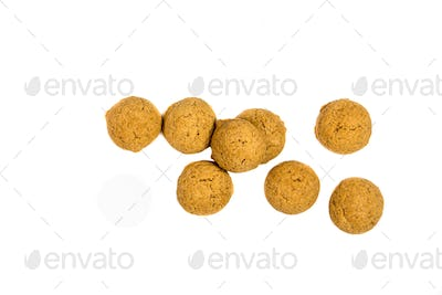 Small amount of scattered Pepernoten cookies from above