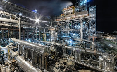 Chemical plant for production of ammonia on night time