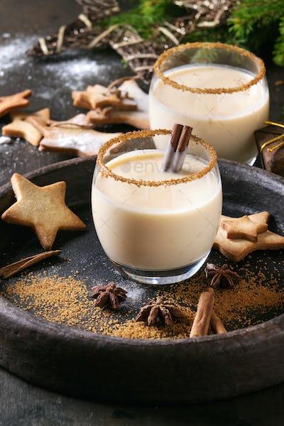 Eggnog Christmas cocktail