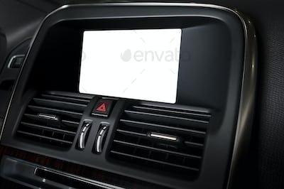 Blank display in car interior