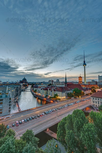 Dusk at downtown Berlin