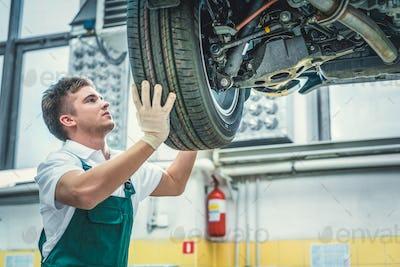 Mechanic in uniform