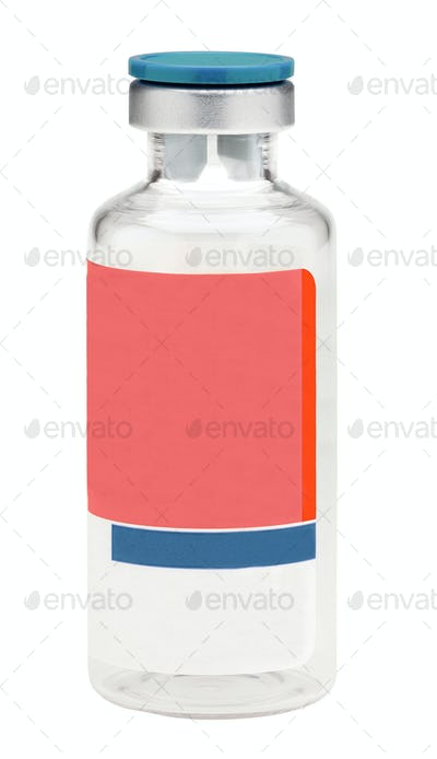 Medical bottle isolated