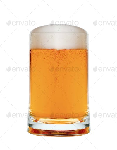 Beer isolated