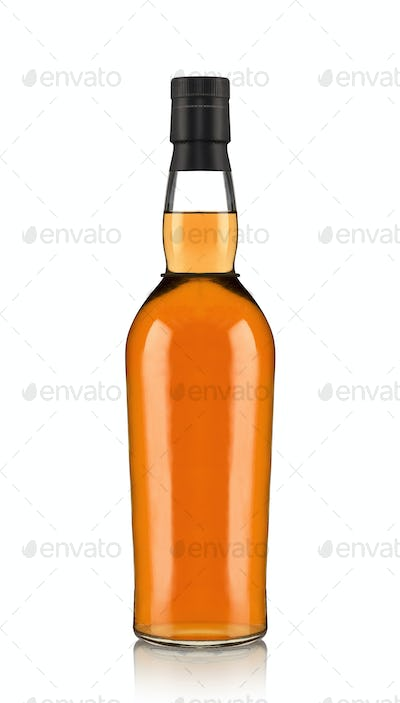 bottle of beer isolated