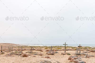 Historic cemetry at Cape Cross