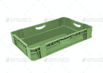 empty crate isolated