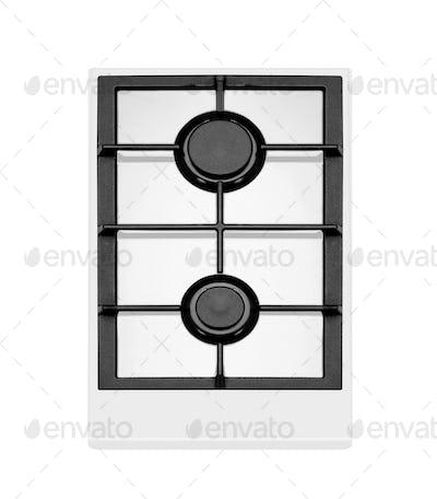 modern gas stove two burners
