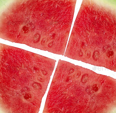 watermelon pizza close up