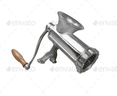 Classic meat grinder isolated