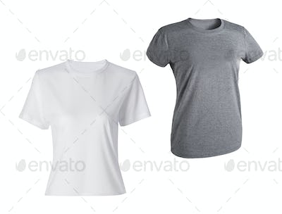 T-shirts woman isolated
