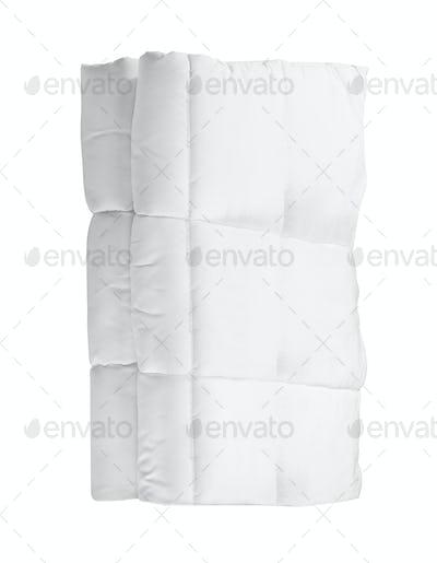 white blanket isolated