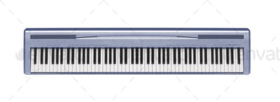 blue synthesizer isolated