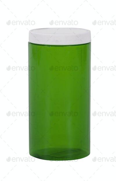 Empty prescription medical pill bottle