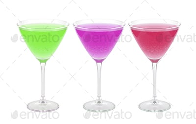 cocktails isolated