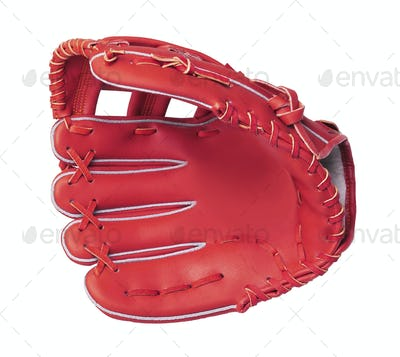 leather baseball glove isolated