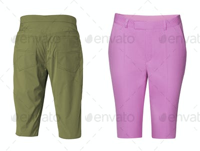 Men's and woman shorts