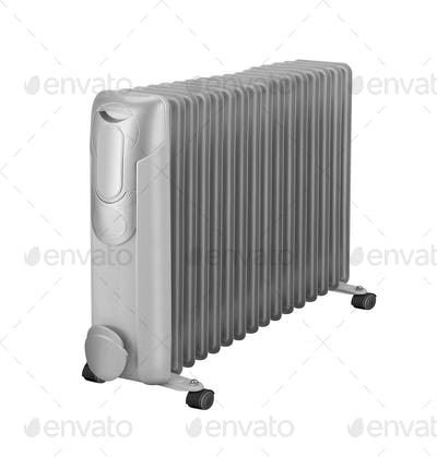 Electric oil heater isolated