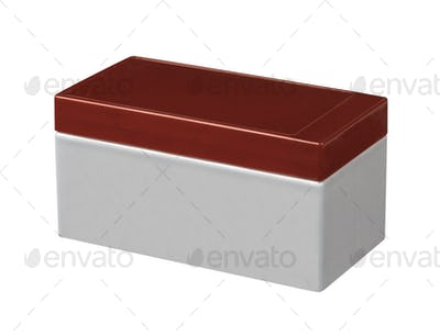 Empty food plastic container isolated