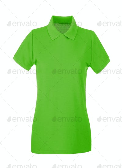 green shirt isolated