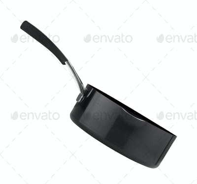 black frying pan isolated