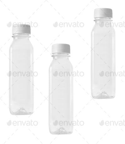 Plastic bottles isolated