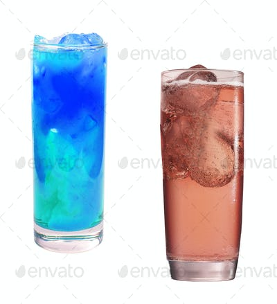 cold coctails isolated